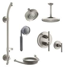 a large image of the kohler k purist dms27hr 4e vibrant brushed nickel