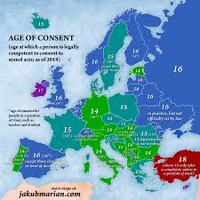 States Age Of Consent Chart Age Of Consent By Country In Europe