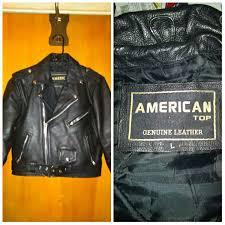 american top genuine leather biker jacket