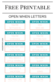 Open When Printable Printables And Products Open When Open