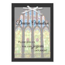 Ordination Invitation Template Deacon Ordination Invitation Stain Glass
