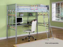 Convertible Desk Bed Loft Beds With Desk Twin Highlands Loft Bed In Driftwood With