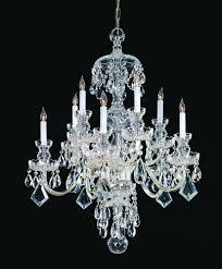 crystorama traditional crystal 10 light clear swarovski strass crystal chrome chandelier iii