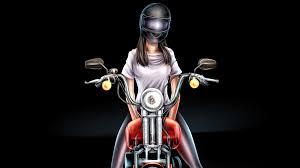 Biker Girl Digital Art 4k, HD Artist ...
