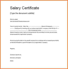 Salary Letters From Employer Salary Confirmation Letter From Employer Rome Fontanacountryinn Com
