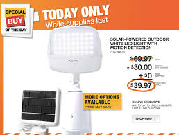 Home Depot Daily Deal  Outdoor Solar Powered LED Lights  Saving Solar Powered Led Lights For Homes