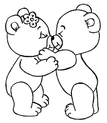 i love you coloring pages cute bear kissing i love you coloring pages printable puppy love coloring pages