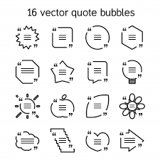 Motivation Templates Set Of Templates Of Square Quote Text Bubble In Various Views