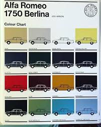 Alfa Romeo Berlina Color Chart Color Colour Chart Paint