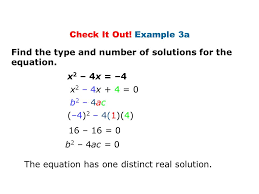 example 3a find the type and number of solutions for the equation