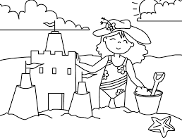 Small Picture Girl Preschool Coloring Pages Summer Fun Season Coloring pages