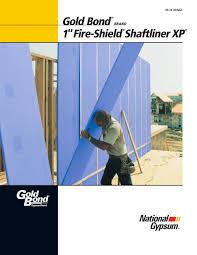 Fire Shield Shaftliner Xp National Gypsum Pdf Catalogues