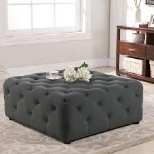 tufted furniture trend. Brilliant Trend Black Tufted Ottoman Coffee Table Furniture Decor Trend   736 X For E