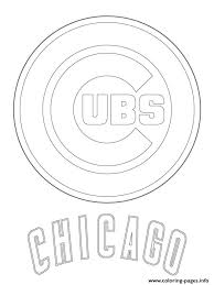 Small Picture Chicago Cubs Logo Mlb Baseball Sport Coloring Pages Printable