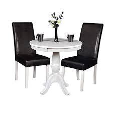 mōd 30 round pedestal table white