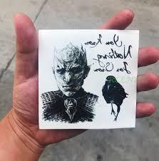 водонепроницаемый временная татуировка стикер игра престолов джон снежный волк