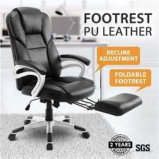 executive computer chair. New Executive Office Computer Chair PU Armchair Footrest