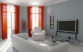 interior design living room color. Smart Combination Living Room Paint Ideas With White Mood Sofa And Red Curtain Interior Design Color