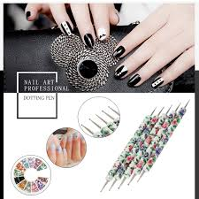 Aliexpress.com : Buy 5Pcs Flower Pattern Nail Dot Painting Pen Set ...