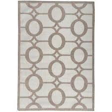 summer collection circles design natural beige 5 ft x 7 ft indoor outdoor