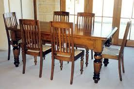 turned leg dining table. Turned Leg Dining Table