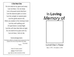 Memorial Pamphlet Template How To Make A Funeral Memorial Program Template Funeral Memorial