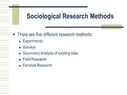 Sociological Research Sociological Research Methods Ppt Download