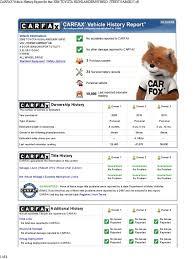 CarFax | Vehicles | Toyota