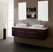 Design Bathroom Cabinets Bath Shower Brown Floating Bathroom Vanity With Double Sink