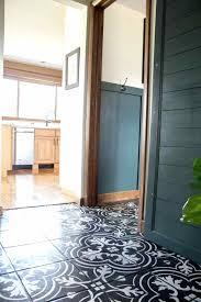 faux cement tile painted floors bright green door with cement tile floor idea cement tile floor cement floor tile