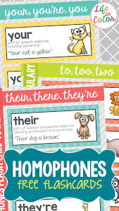 Flashcards Template Word Free Printable Homophone Flashcards And Word Wall Words