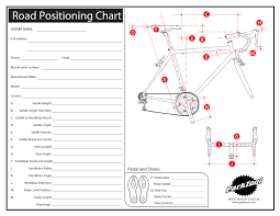 bicycle frame size calculator road positioning chart park tool