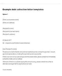 dept collection letter debt collection template unpaid invoice awesome overdue letter uk