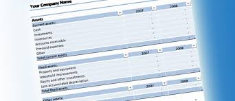 Balance Sheet Template for Excel 2007 or Later