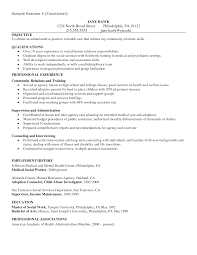 Social Work Resume Skills Hospital Social Worker Resume Resume For Study 87