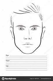 manface chart makeup artist blank template vector ilration vector by melanjurga