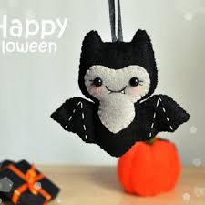 Cute Halloween ornament felt Bat decor Halloween gift Party favors Halloween  decorations felt ornament Bat scary