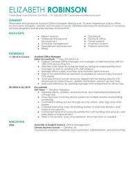 Resume For Office Manager Position Best Admin Assistant Manager Resume Example Livecareer
