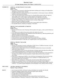 Medical Project Manager Resume Samples Velvet Jobs