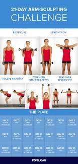 21 Day Plank Challenge Chart 21 Day Arm Challenge Popsugar Fitness Australia