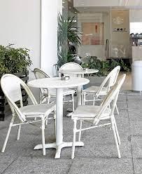 hot rattan furniture white chairs