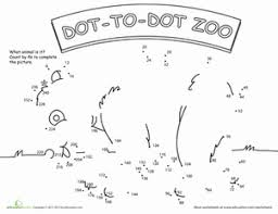 dot to dot animals. Exellent Animals Dot To Zoo 4u0027s In To Animals E