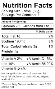 nutrition facts for y nacheez