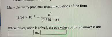 solved many chemistry problems result