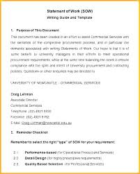 Software Sow Template Project Statement Of Work Document
