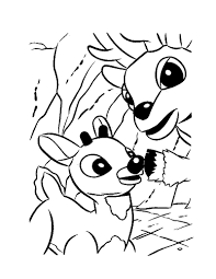 Small Picture Rudolph the red nosed reindeer coloring pages Hellokidscom