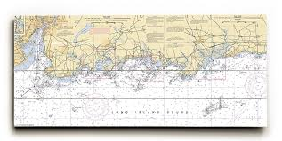 Tide Chart Guilford Ct New Haven Branford Guilford Ct Graphic Art Print On Wood