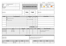 call sheet template excel call sheet format korest jovenesambientecas co