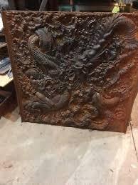 cast iron fireback. Antique Cast-Iron Fireback Sea Serpents James S Conover \u0026co Ny Cast Iron