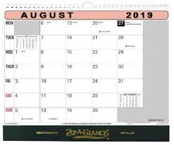 At A Glance Monthly Planner 2019 Flip Wall Calendar 2019 By At A Glance